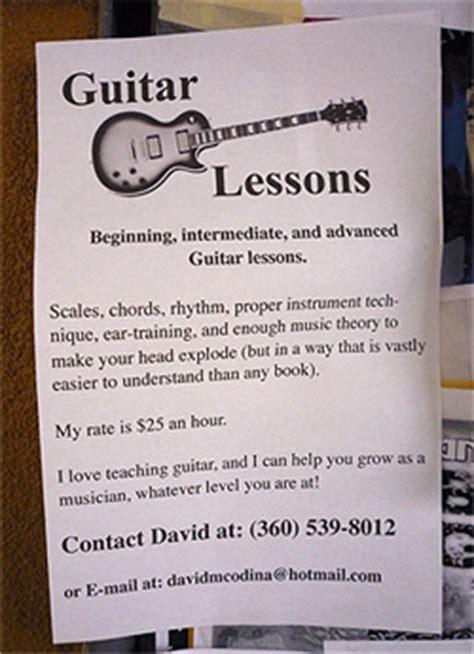 13 Popular Print Design Trends That Make Us Cringe Guitar Lesson Flyer Template