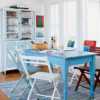 blue table dining room interiors