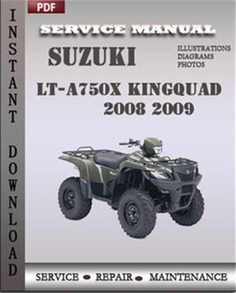 Suzuki King 750 Service Manual Digitalservicemanual Suzuki Lt A750x Kingquad 2008 2009