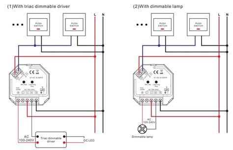 Senter Push On Dimmer 3 In 1 sunricher ac push dim 400w rf triac dimmer view 400w rf triac dimmer sunricher product details