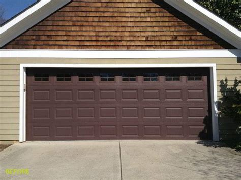 garage door gallery before and after garage