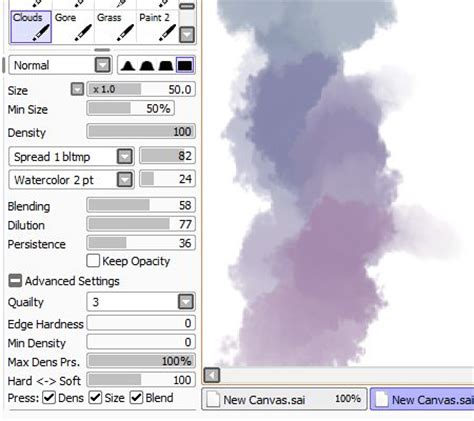 paint tool sai water brush settings 80 best images about brushes paint tool sai on