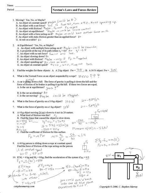 Coefficient Of Friction Worksheet Answers by Index Of Acrobatfiles Aphysics Notesandexles Forces