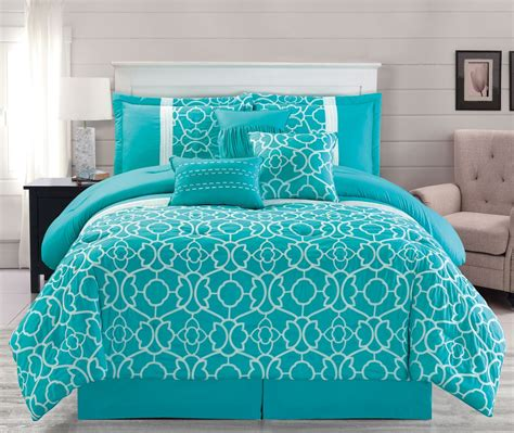 7 piece ladera aqua comforter set