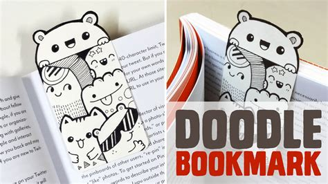 how to use you doodle diy mini doodle bookmark