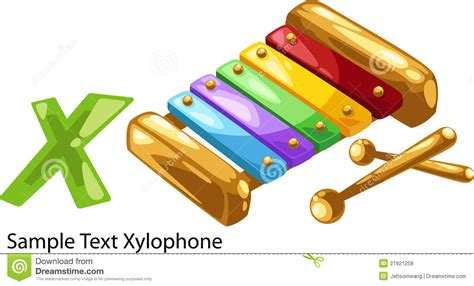 Nursery Rhythm Download Free by Illustration Alphabet Letter X Xylophone Royalty Free