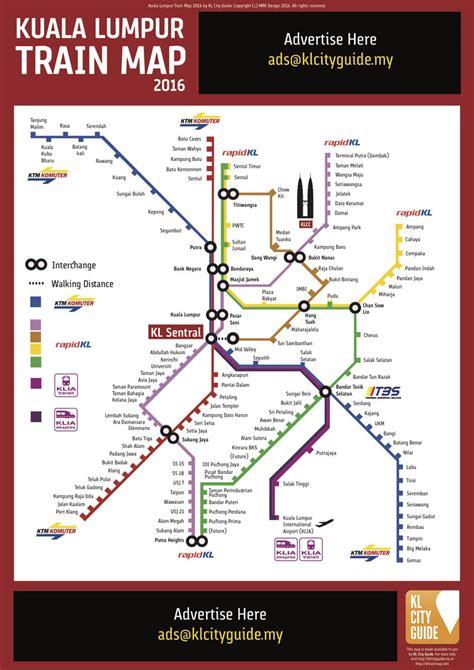 Ktm Kuala Lumpur Map Kuala Lumpur Map Updated 2016 Kl City Guide