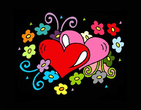 imagenes de corazones unidos por rosas dibujo de love pintado por manu21 en dibujos net el d 237 a 21