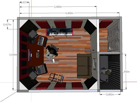 home recording studio design search office