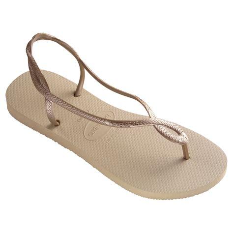 flip flop sandals havaianas havaianas flip flop sandals in gold lyst