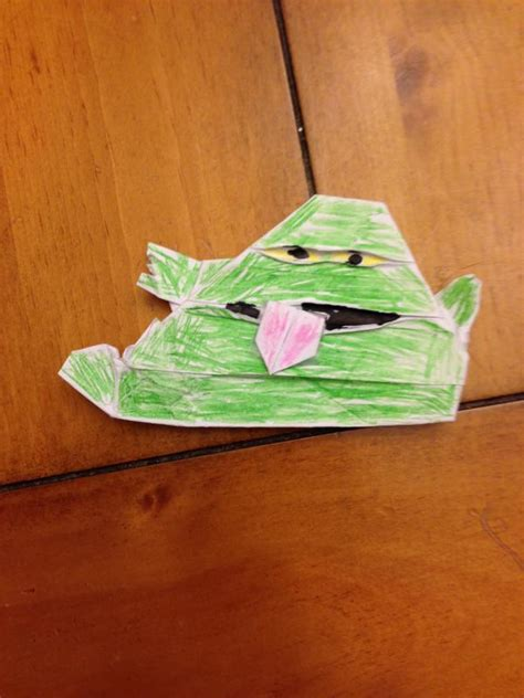 Origami Jabba The Puppet - real jabba the puppet origami yoda
