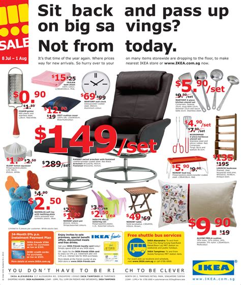 when does ikea have sales ikea sale 2010 great deals singapore