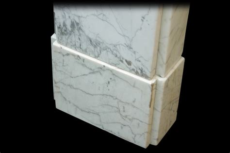 Fireplace Plinth by Early Carrara Marble Fireplace Surround Plinth