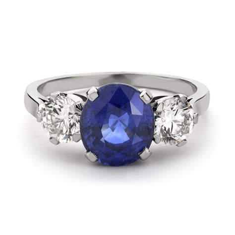 sapphire and ring
