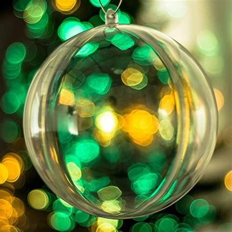 100mm clearfillable bauble x20 clear baubles empty fillable tree decorations 100mm ornament gift wedding favours