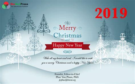 merry christmas  happy  year  biomedpress
