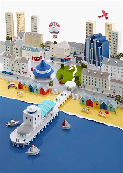 Paper Craft City - paper cities on behance