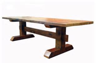 Timber Dining Tables Reclaimed Timber Trestle Table Rustic Dining Tables By Ecofirstart