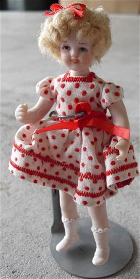 bisque shirley temple doll artist doll porcelain bisque shirley temple polka dot