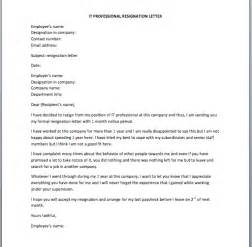 Exle Letter Of Resignation Professional by Professional Resign Letter Resume Cv Cover Letter