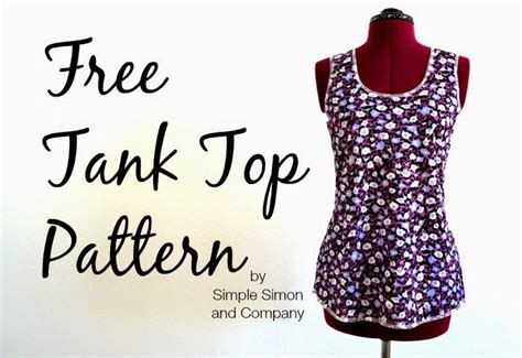 simple pattern top marks simple simon and company has posted this free tank top