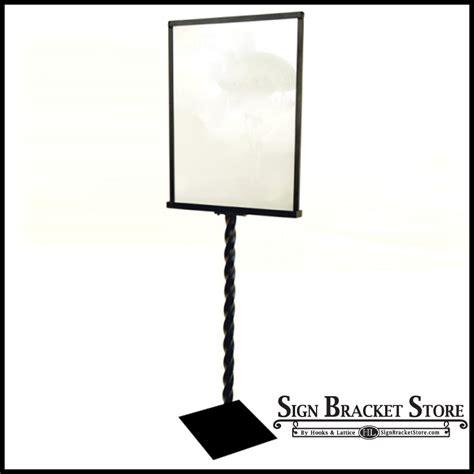Decorative Sign Holder decorative sign holder with a twist