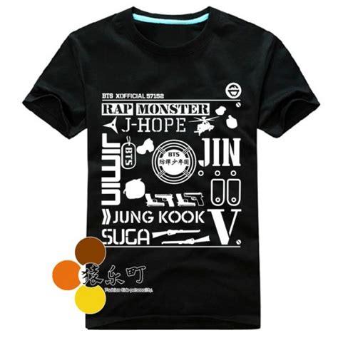 Tsgirt Bts Member bts bangtan boys goods member name logo sleeve t shirt