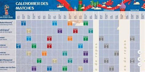 le calendrier des matchs de la tunisie pour la coupe du