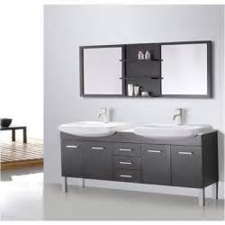 72 Vanity With Mirror Design Element Tustin 72 Inch Sink And Mirror