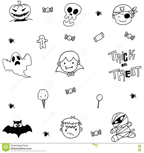 doodle ghost doodle of ghost stock vector image 73018238