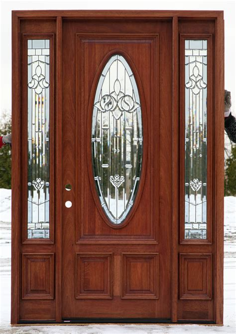 What Are Exterior Doors Made Of Exterior Entry Doors With Sidelights