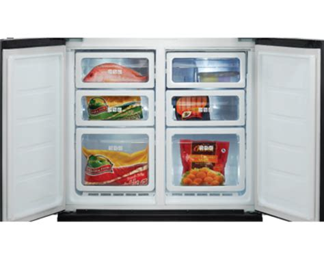 Freezer Tempat Minuman sharp kulkas side by side 695 liter sj if90pb sl silver