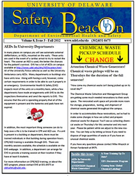 Tick Borne Disease Environmental Health Safety University Of Delaware Safety Newsletter Template