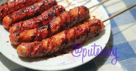 Teflon Bakar Sosis resep sosis bakar barbeque oleh puteri ayuningtyas cookpad
