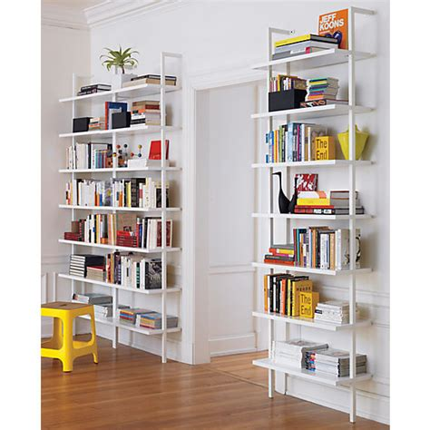 stairway wall mounted bookcase home office bookcases sleek design clears baseboards