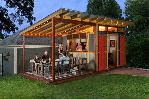 Shed man cave shed farmhouse with tall ceilings built in