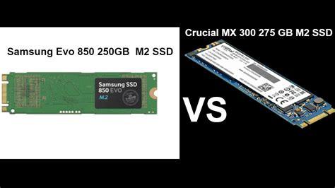 Samsung Ssd 850 Evo 250gb M2 samsung evo 850 250gb m2 ssd vs crucial mx300 275gb m2