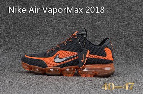 Nike Air Vapor Max 2018 mens nike air vapormax 2018 shoes grey orange black black