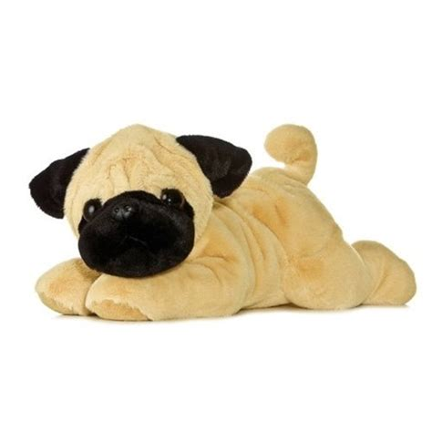 pug plushies pugger the plush pug 12 inch flopsie stuffed by