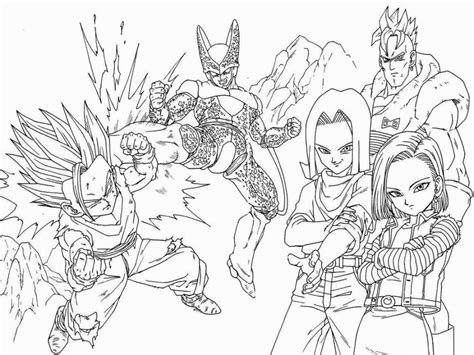 dragon ball z coloring pages pdf coloring pagesdragonball z dragon ball pages printable