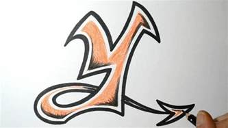 how to draw graffiti letters y
