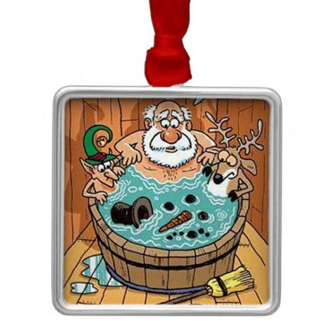 bathtub christmas ornament santa hot tub christmas tree ornament zazzle