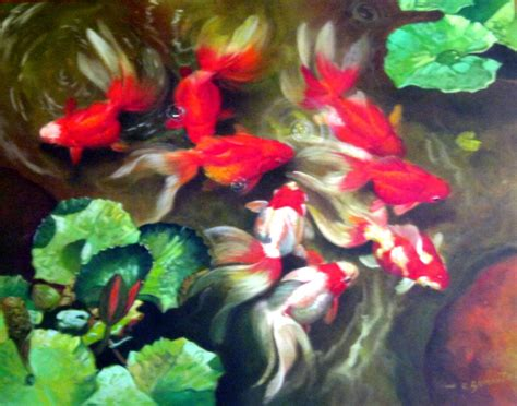 Harga Ikan lukisan ikan paintings of fish lukisan repro repro