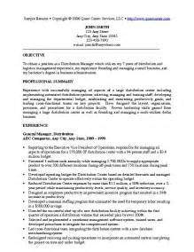 Resume Exles For Managers Position by Sle Resume Exle 1 Executive Resume Or Management Resume