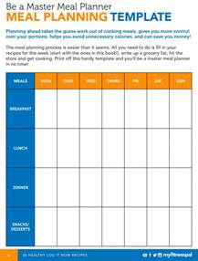family meal plan template be a master meal planner with this template myfitnesspal