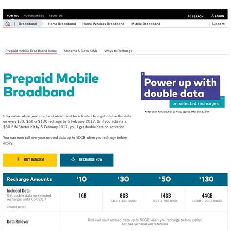 optus prepaid mobile optus prepaid mobile broadband 130 for 44gb 2 year