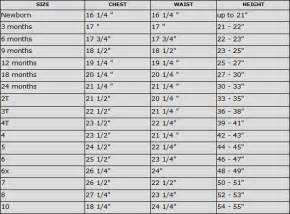 trish scully child size chart