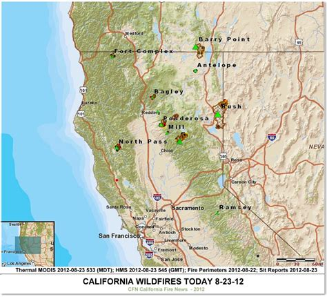 southern california wildfires map southern california news today