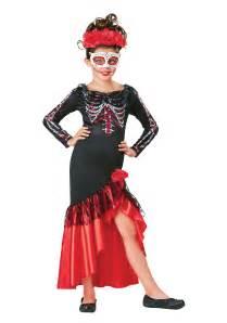 Day Of The Dead Halloween Costumes Child S Day Of The Dead Senorita Costume