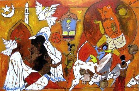 Painting M D F by Maqbool Fida Husain Artist Portfolio Picassomio